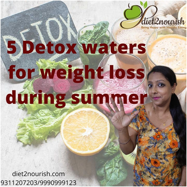 Detox waters to drink for weight loss during summer